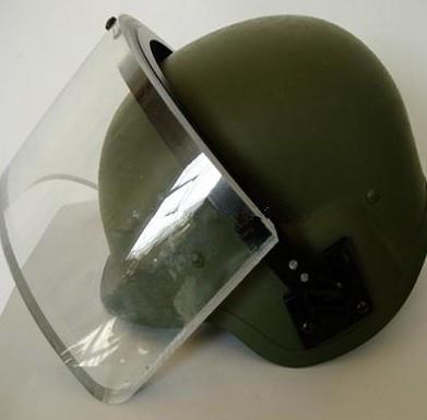 带面罩的防弹头盔